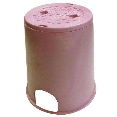 10 in. Standard Round Valve Box and Cover - Reclaimed Water