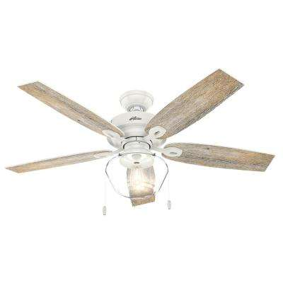 White outdoor ceiling fans lighting the home depot led indooroutdoor fresh white ceiling fan aloadofball Image collections