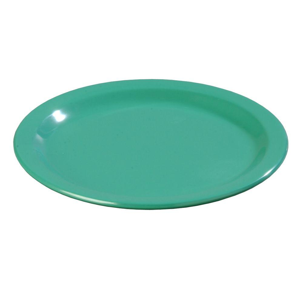 Diameter Melamine Dinner Plate In Meadow Green Case Of 48 4350109 The Home Depot