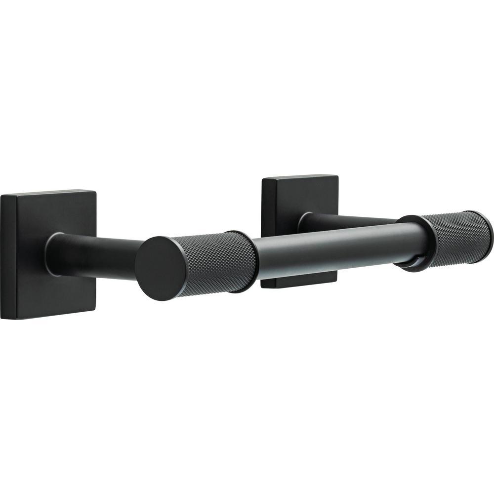 Averland Pivot Arm Toilet Paper Holder in Matte Black