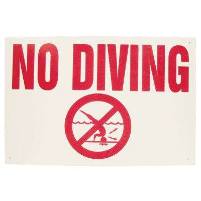 18 in. x 12 in. Blue Devil No Diving Allowed Sign