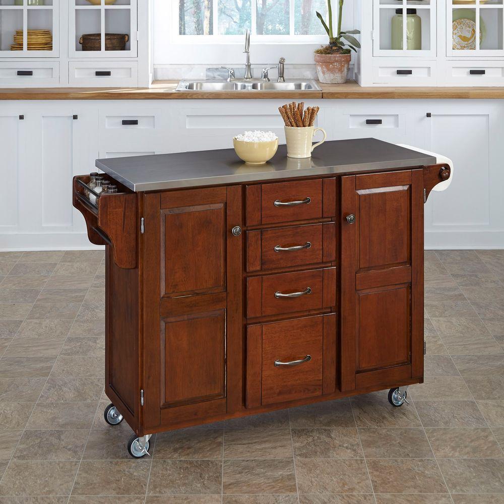Unfinished Kitchen Island Cabinets: International Concepts Unfinished Kitchen Cart With Shelf