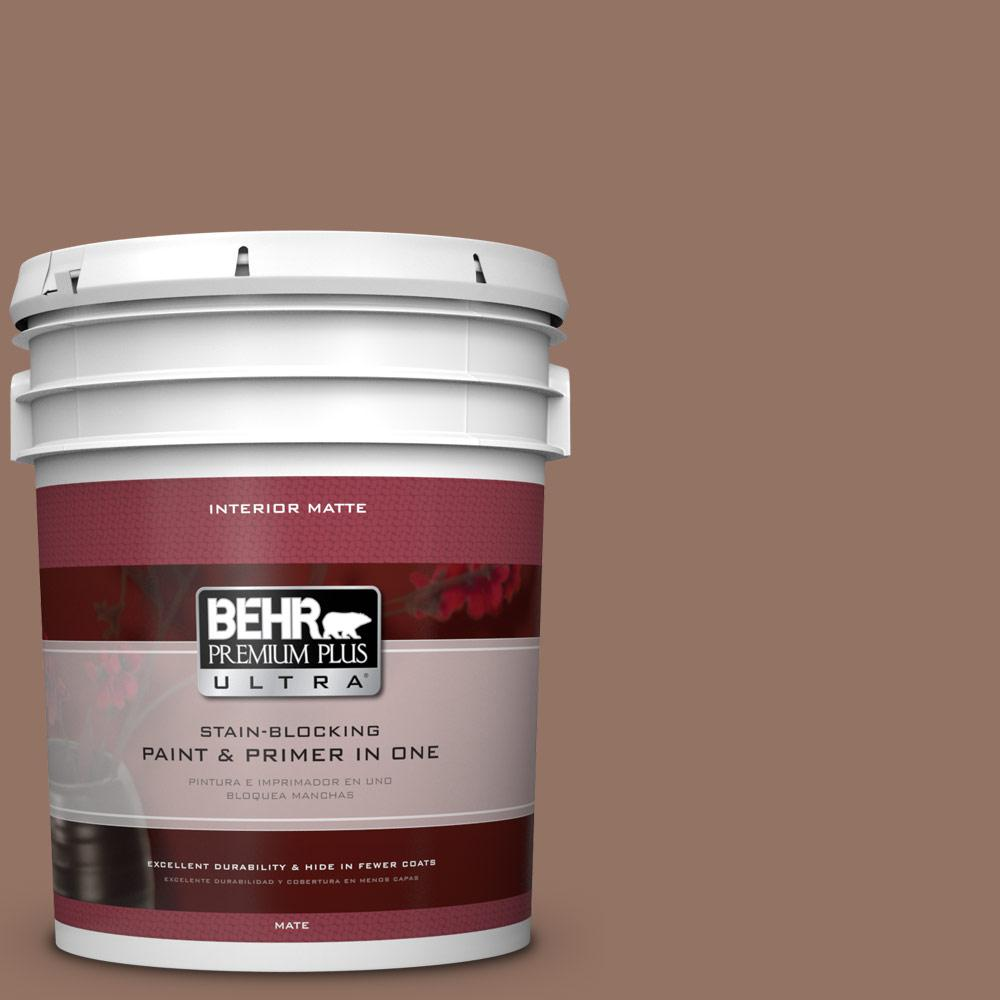5 gal. #BXC-84 Corral Brown Matte Interior Paint