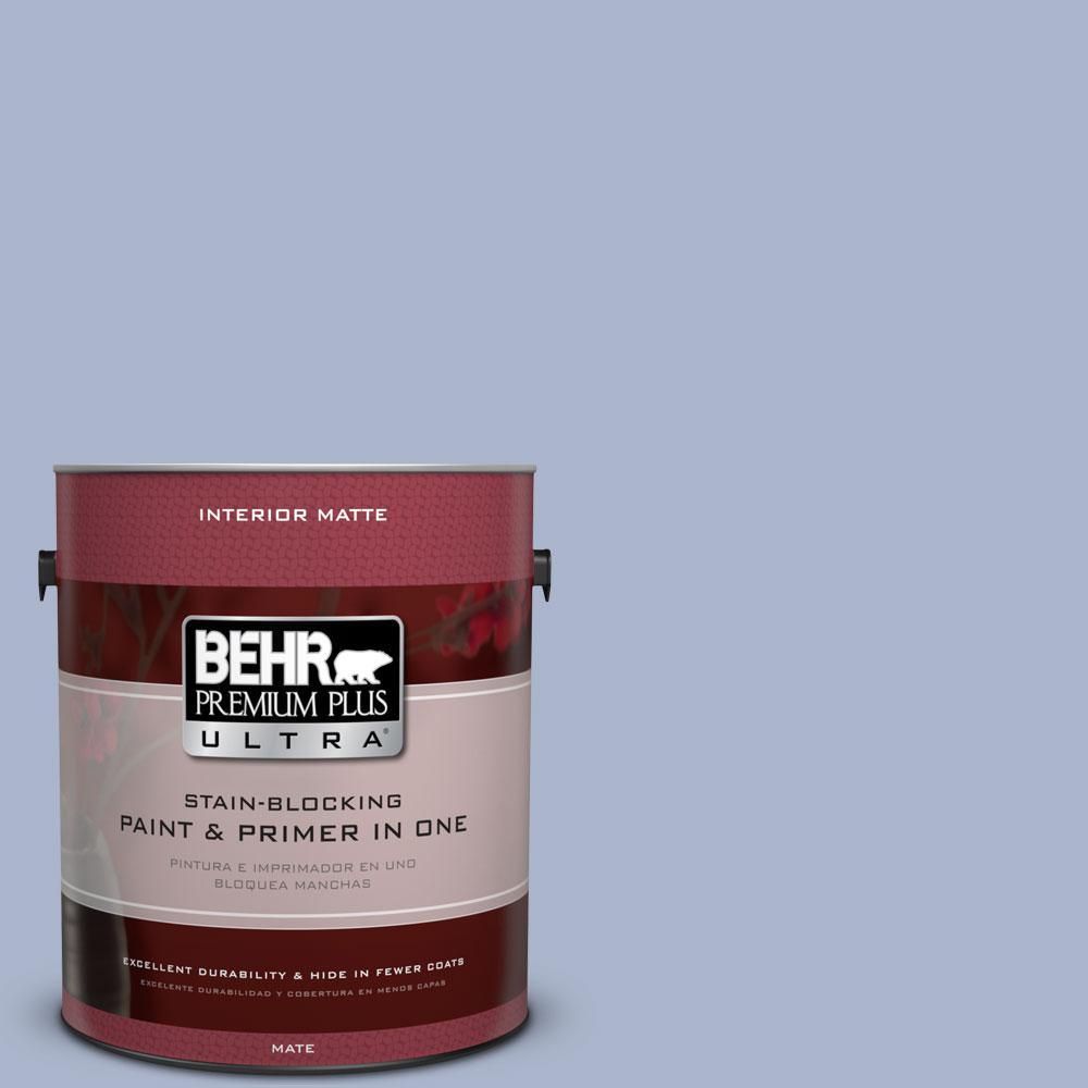 BEHR Premium Plus Ultra 1 gal. #PPU15-14 Ballroom Blue Flat/Matte Interior Paint