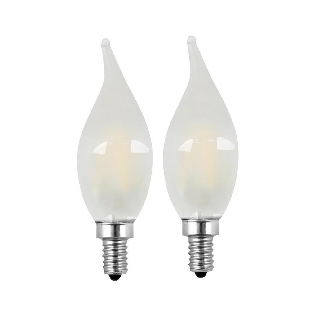 Feit Electric 40w Equivalent Soft White A19 Clear Filament: Feit Electric 40W Equivalent Soft White (2700K) CA10
