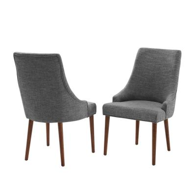 Landon Mahogany Upholstered Dining Chairs (2-Piece)