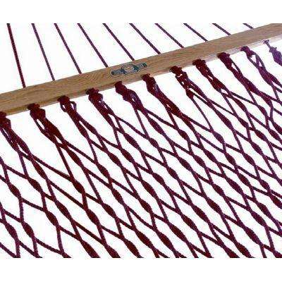 13 ft. DuraCord Patio Rope Hammock Garnet in Red