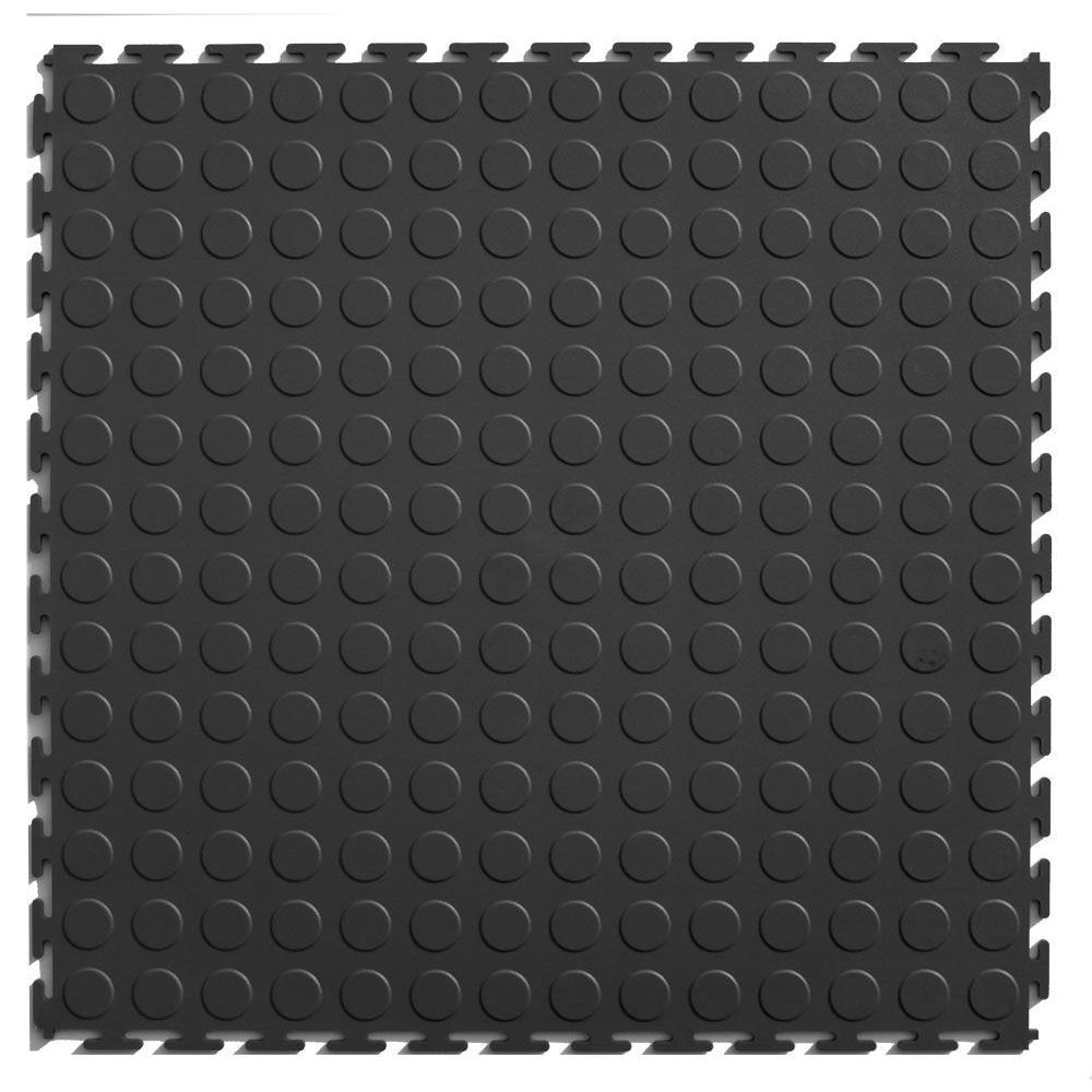 IT-tile Coin 20-1/2 in. x 20-1/2 in. Dark Gray Vinyl Interlocking Multipurpose Flooring Tiles (23.25 sq. ft./case)