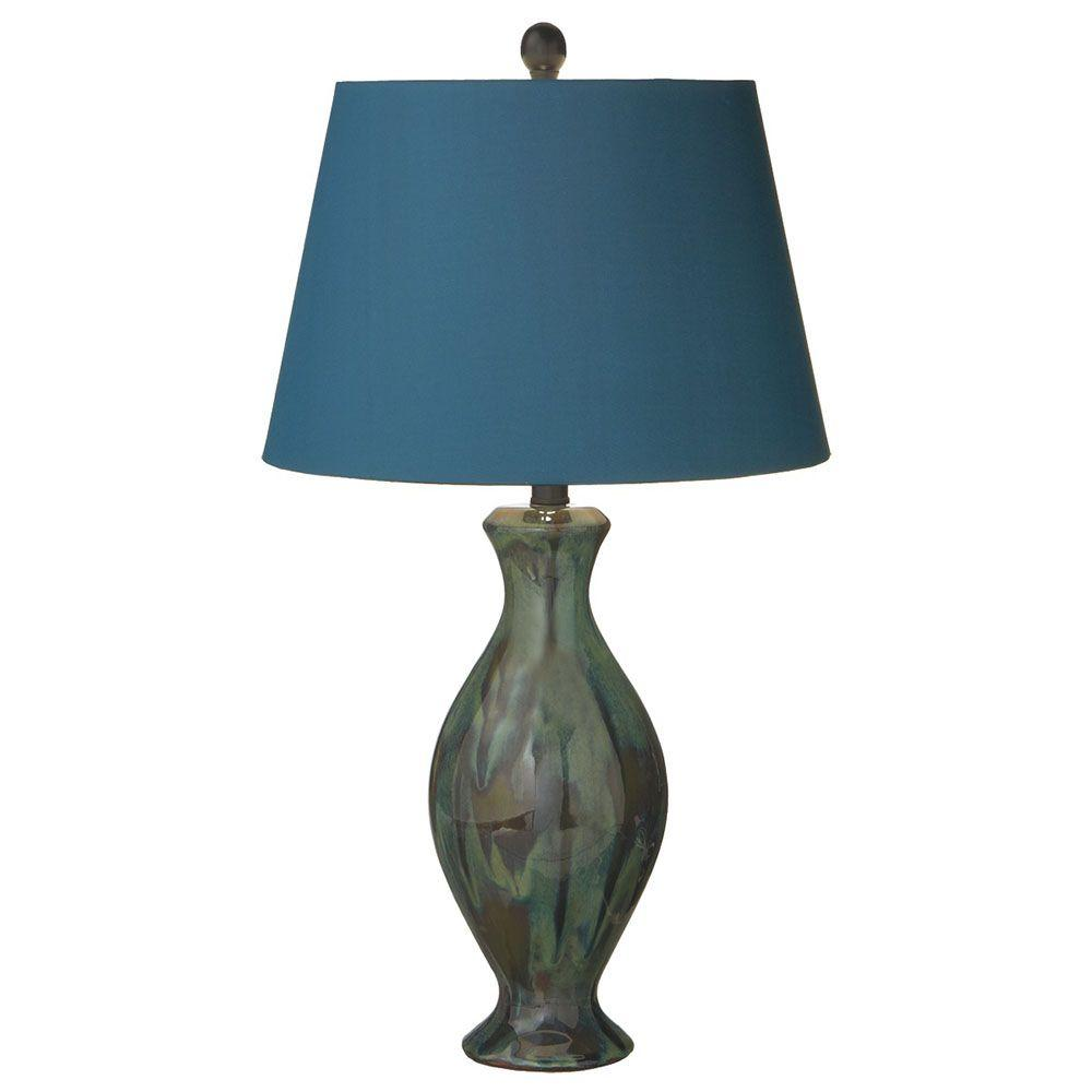 Filament Design Sundry 26 in. Blue Reactive Glaze Table Lamp