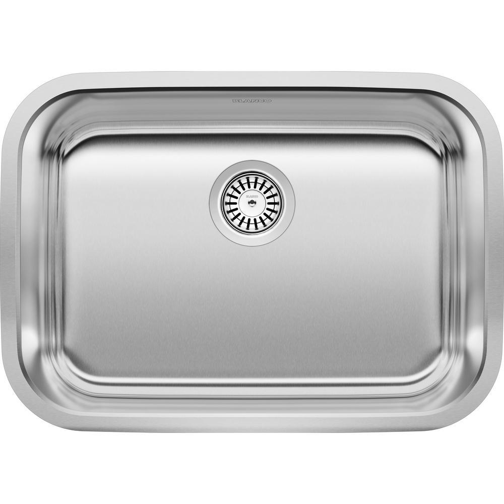 STELLAR Undermount Stainless Steel 25 in. Single Bowl Kitchen Sink