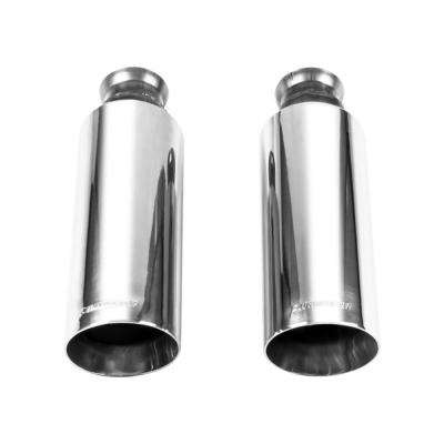 Exhaust Tip 09-17 Dodge Ram 1500 Direct-Fit Exhaust Tips (Pair) Bright Polish Finish 4in