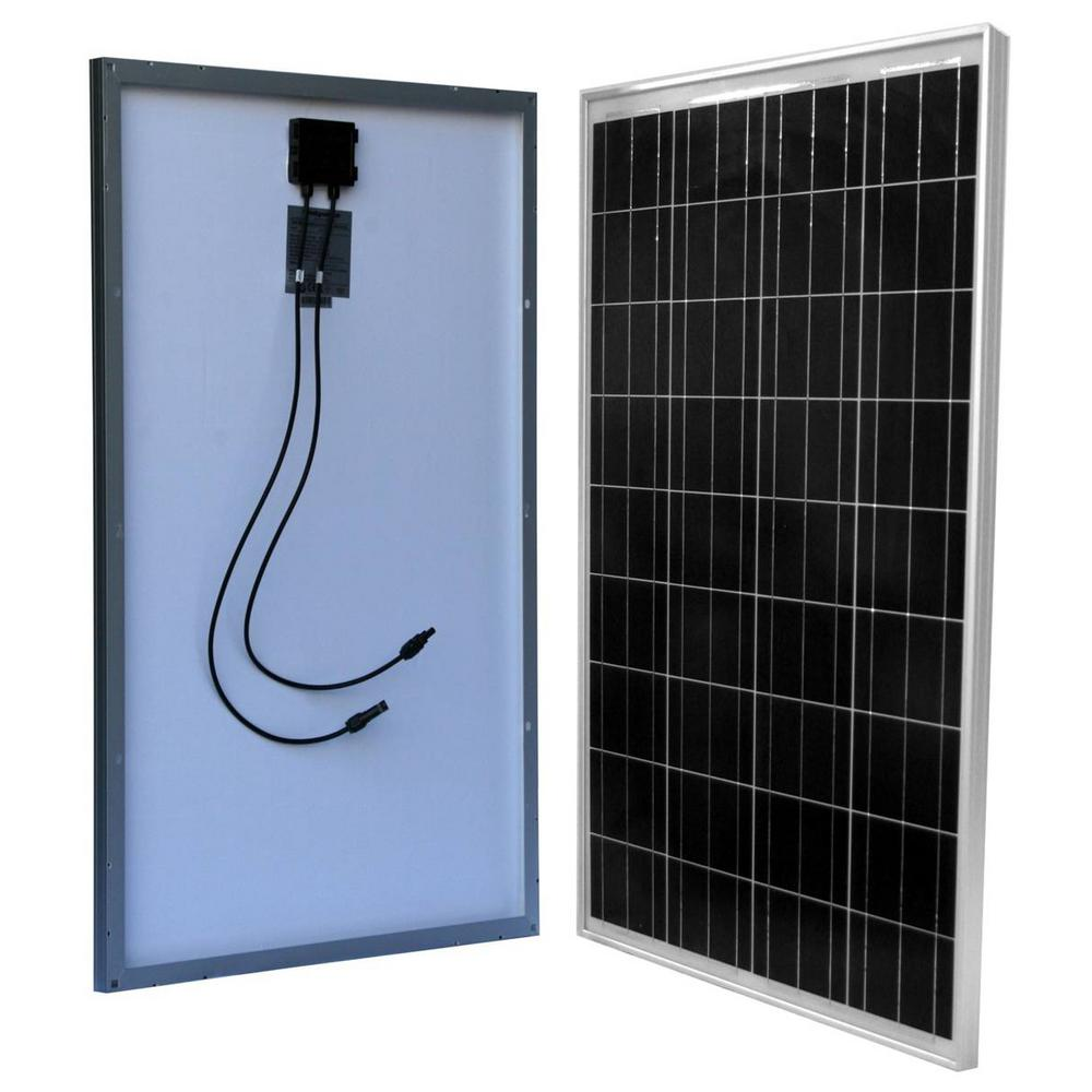 WindyNation 100-Watt 12-Volt Slim Polycrystalline Solar Panel for RV, Boat, Camping, Off-Grid