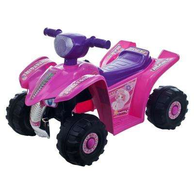 Battery Powered Ride on Toy 4-Wheeler in Pink/Purple