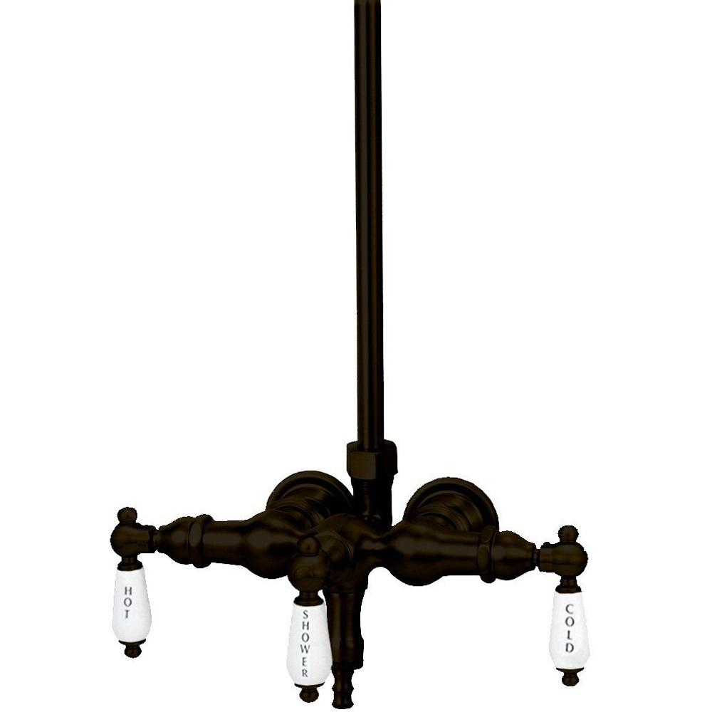 Elizabethan Classics TW13 3-Handle Claw Foot Tub Faucet without Handshower in Oil Rubbed Bronze