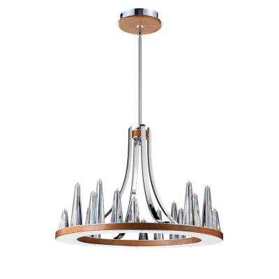 Skyline Collection 20-Light Chrome and Clear Chandelier with Clear Glass Shade
