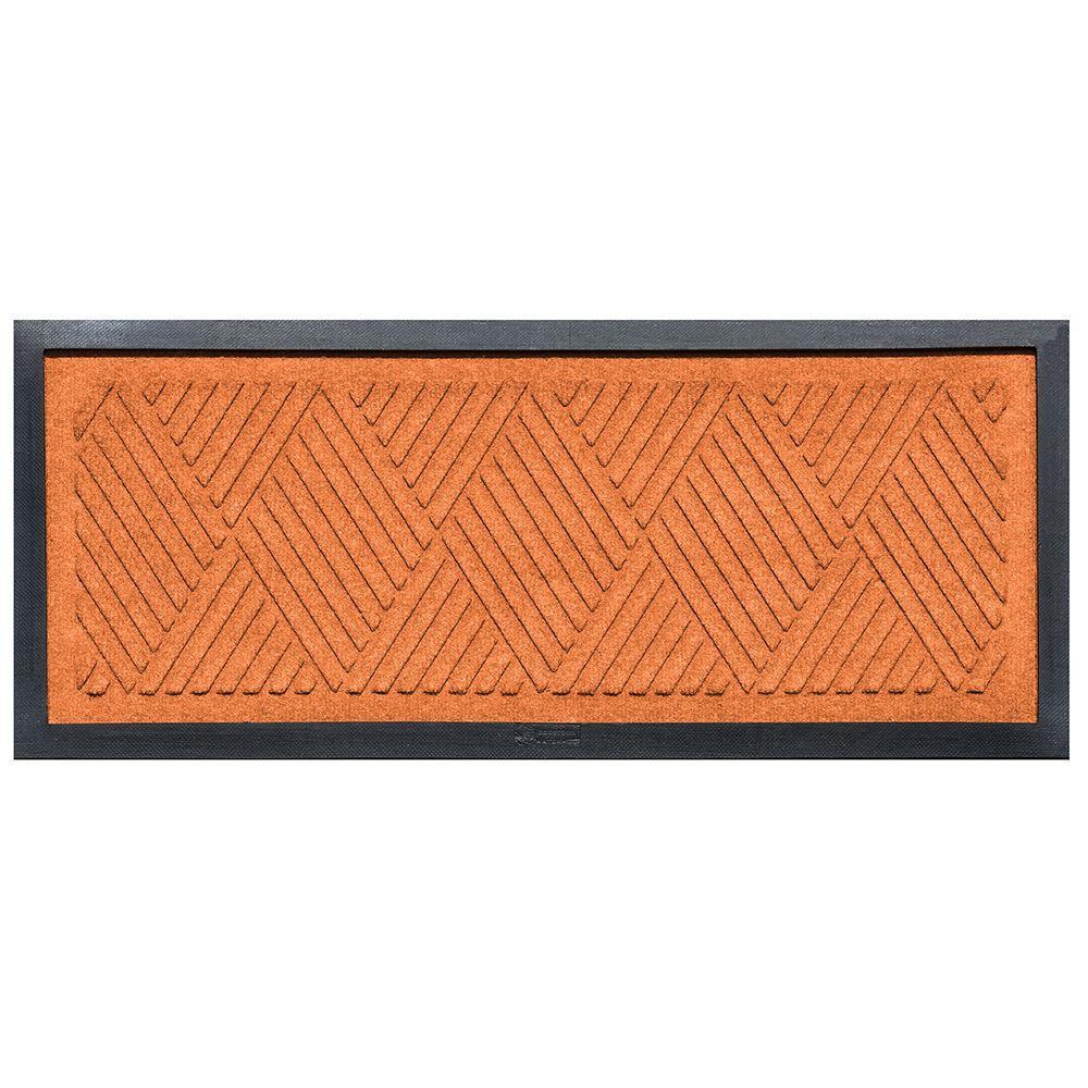Orange 15 in. x 36 in. Diamonds Boot Tray