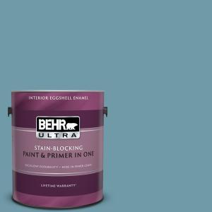 Behr Ultra 1 Gal Ppu13 07 Voyage Eggshell Enamel Interior Paint And Primer In One 275401 The Home Depot