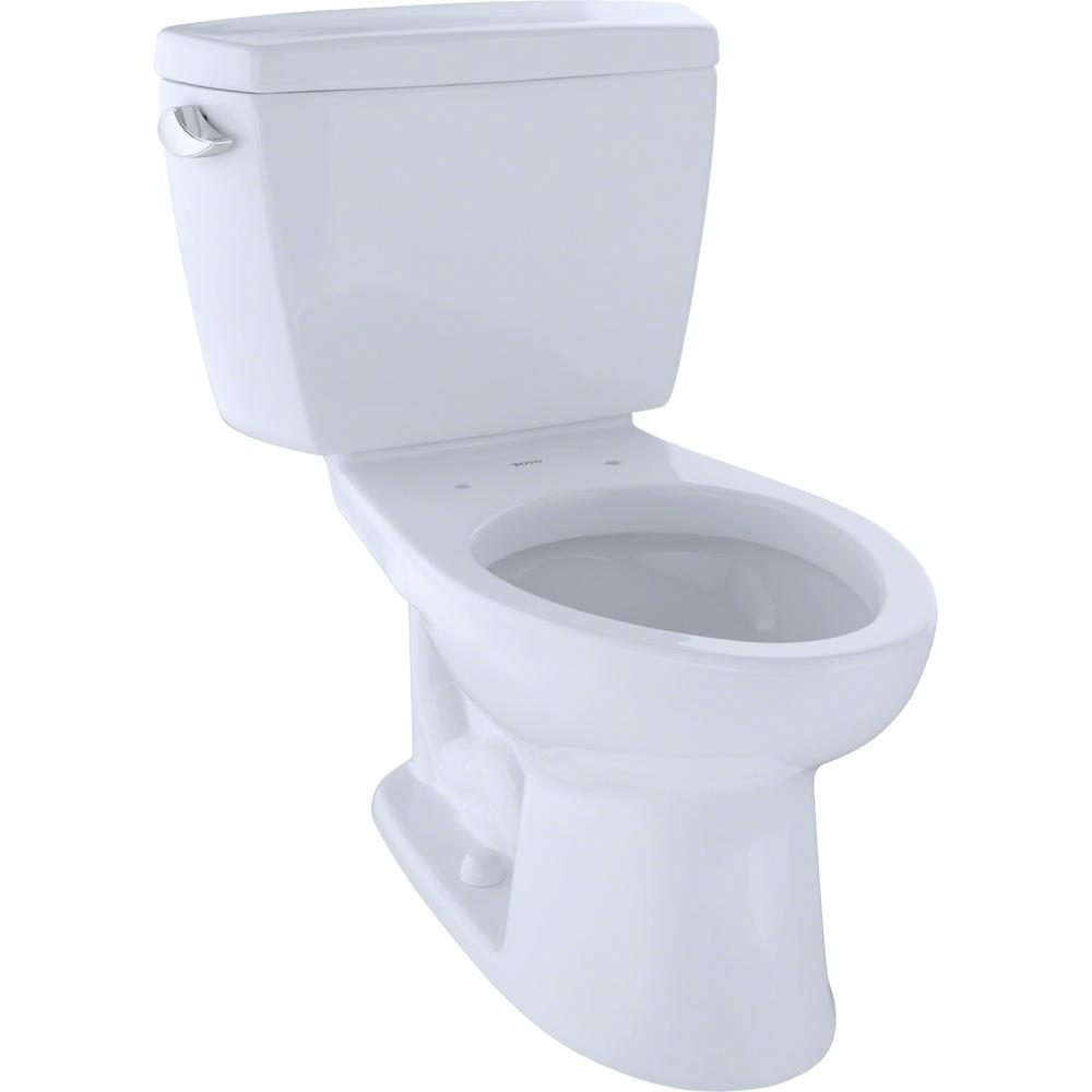 TOTO Eco Drake 2-Piece 1.28 GPF Single Flush Elongated Toilet with 10 in. Rough-In in Cotton White