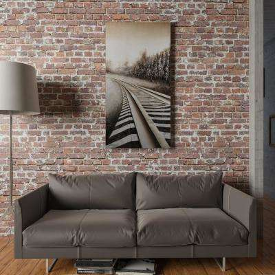 """59 in. x 30 in. """"Long Commute"""" Hand Painted Canvas Wall Art"""