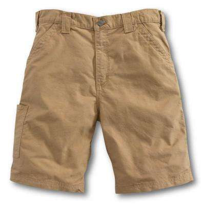 Men's Regular 28 Dark Khaki Cotton  Shorts
