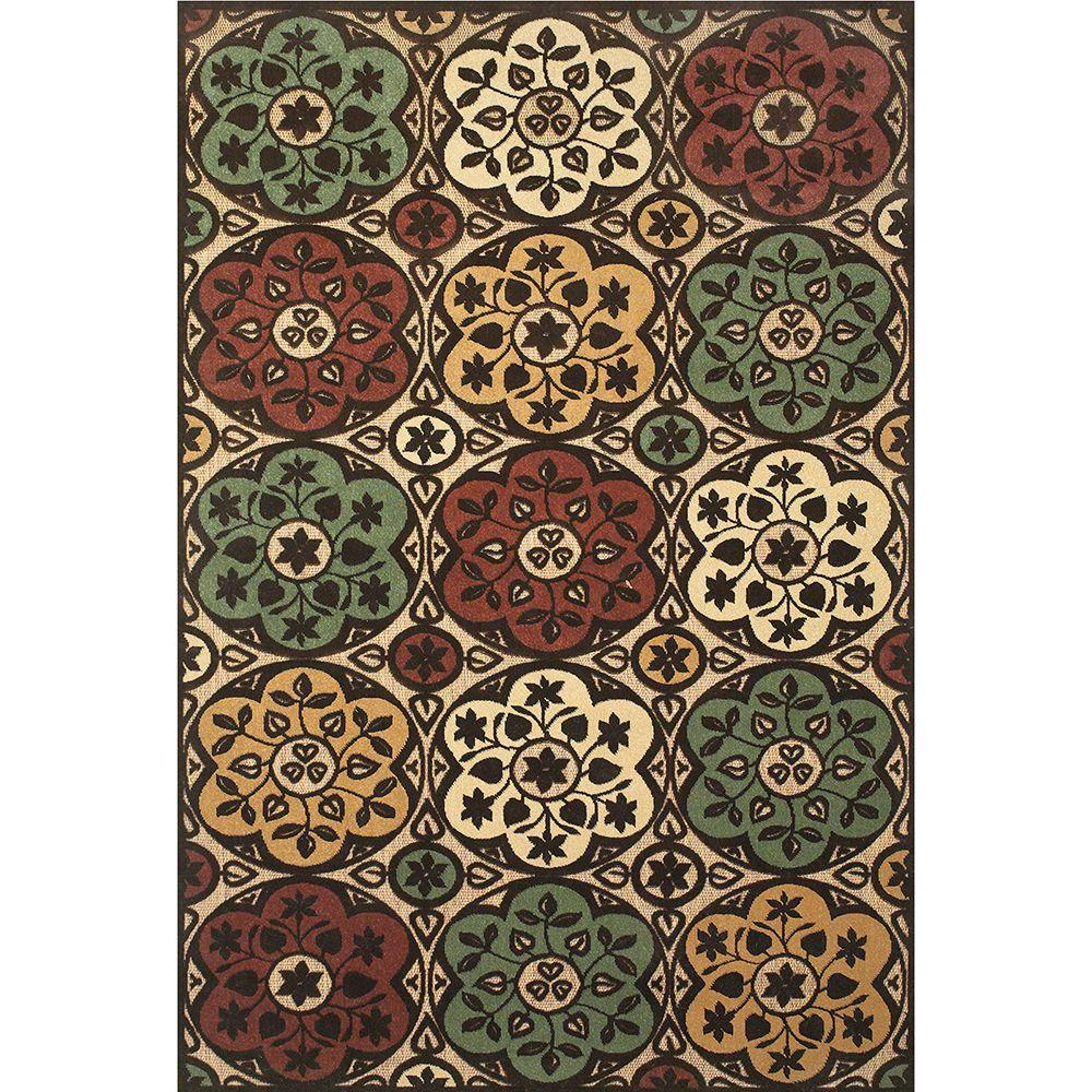 Feizy Lucka Tan/Brown 7 ft. 6 in. x 10 ft. 6 in. Indoor/Outdoor Area Rug