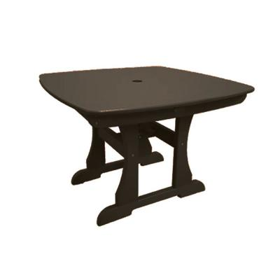 Mocha Square Poly-Lumber Bar Height Patio Outdoor Dining Table