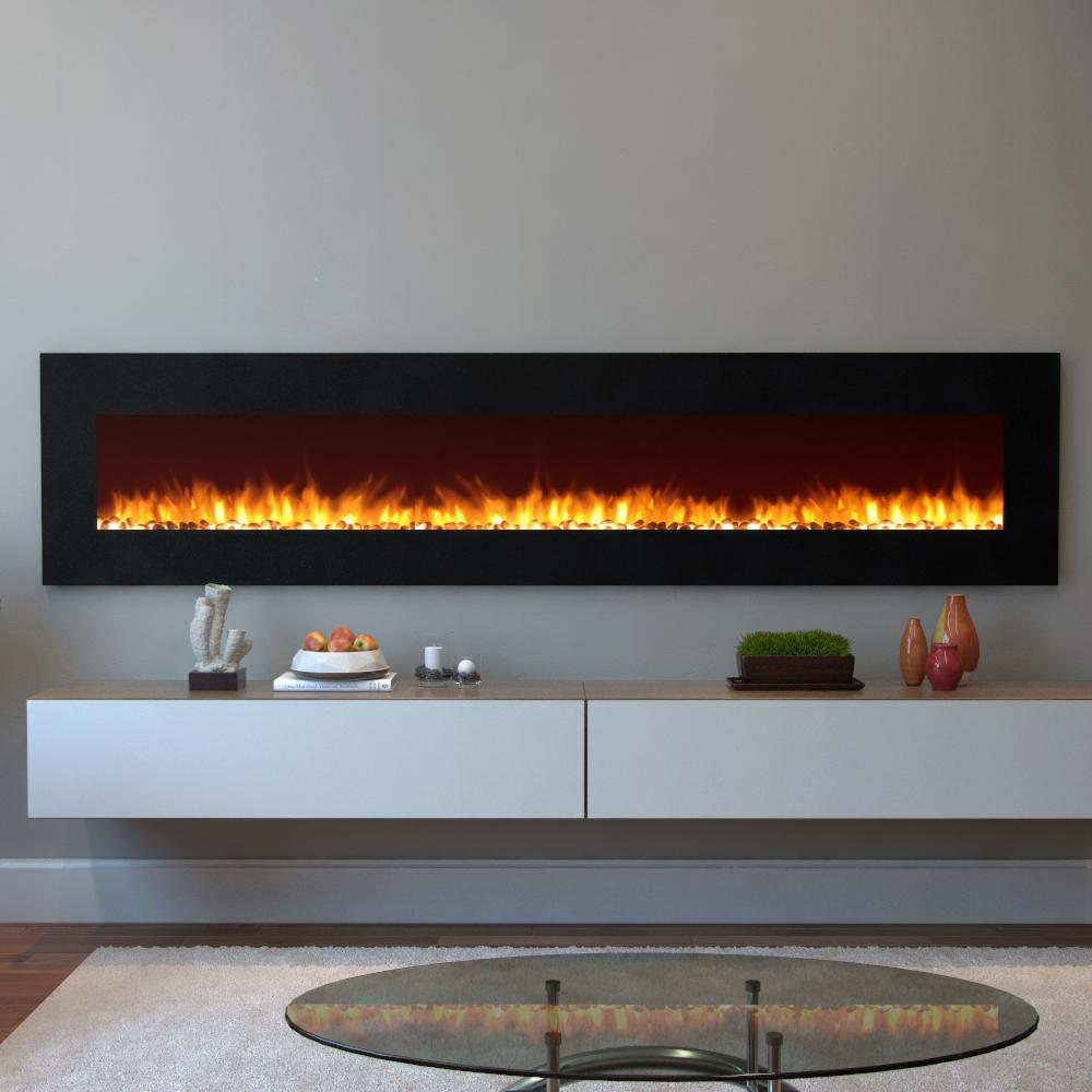 Moda Flame Grand 95 in Pebble Electric Wall Mounted