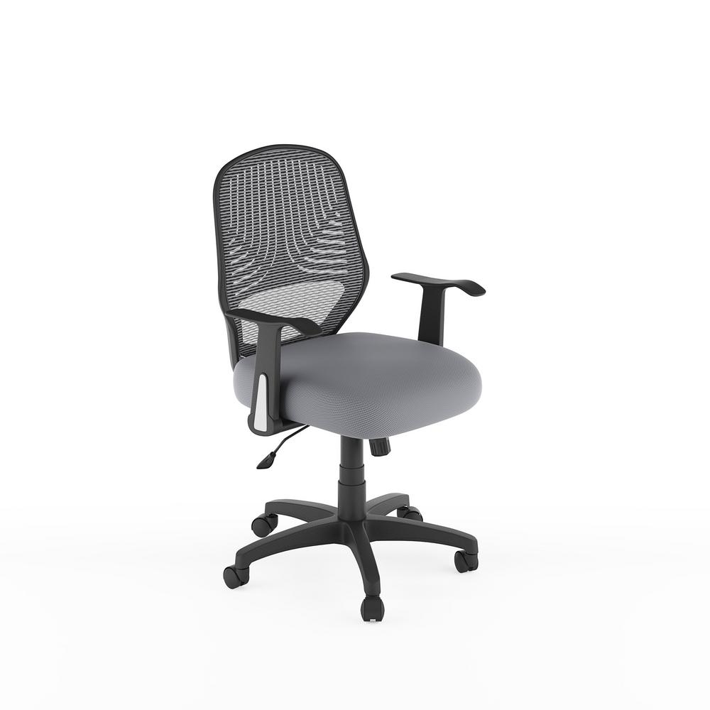 corliving workspace grey mesh office chair lof 239 o the home depot
