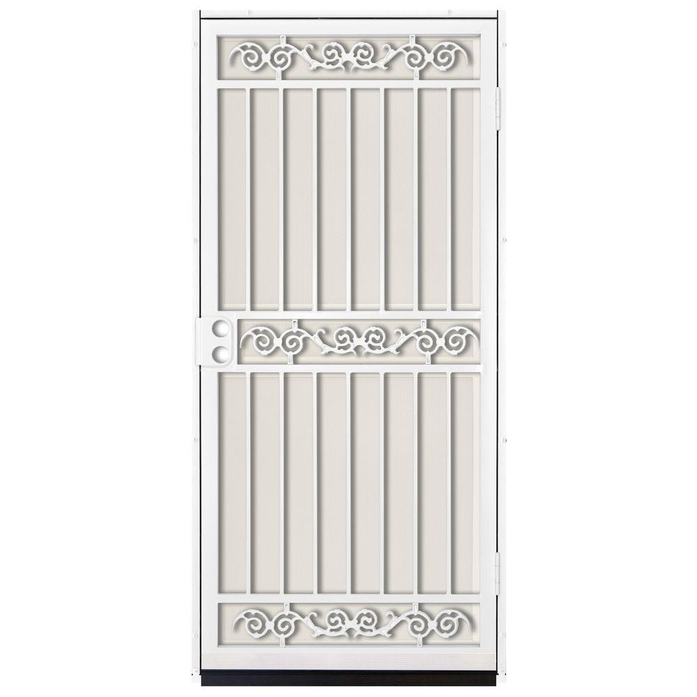 Unique Home Designs 36 in. x 80 in. Sylvan White Surface Mount ...