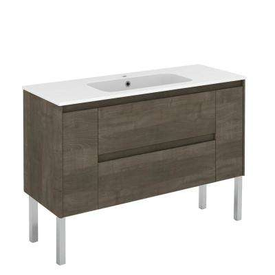 47.5 in. W x 18.1 in. D x 32.9 in. H Bathroom Vanity Unit in Samara Ash with Vanity Top and Basin in White