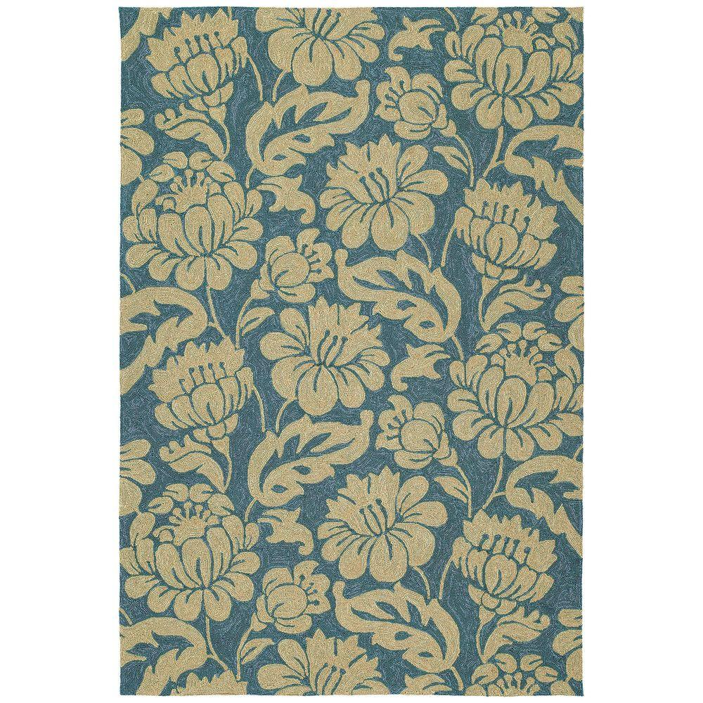 Kaleen Habitat Calypso Azure 10 ft. x 14 ft. Indoor/Outdoor Area Rug
