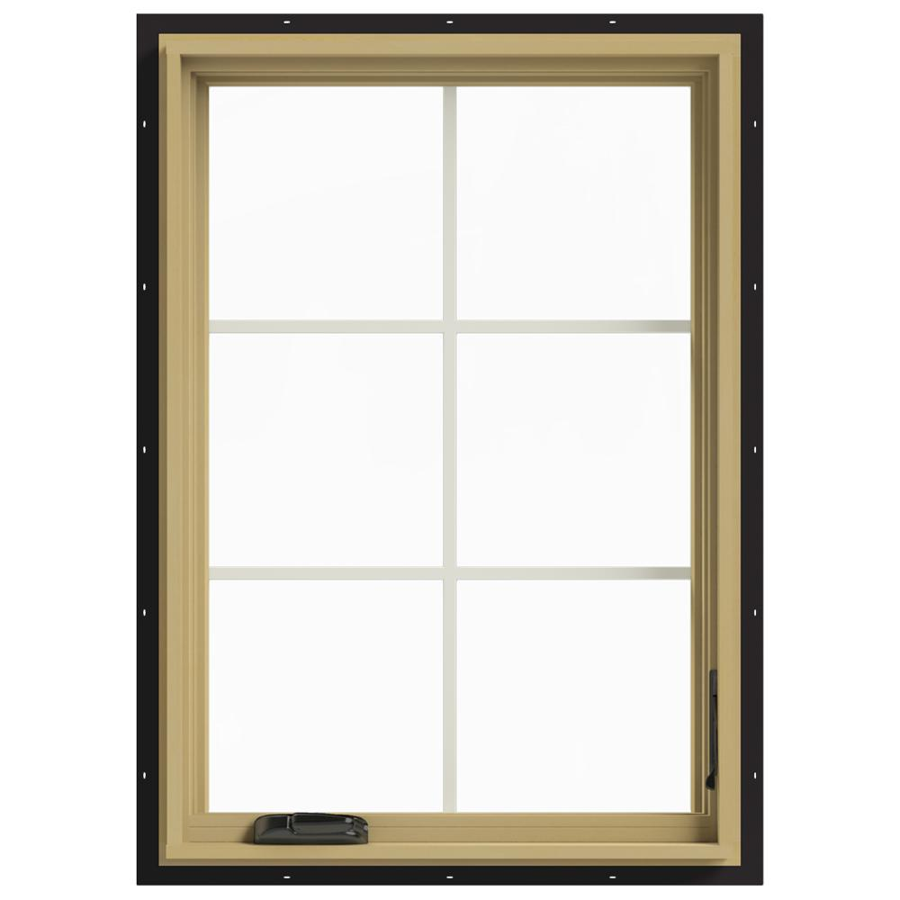 Jeld wen 28 in x 40 in w 2500 right hand casement for Casement window reviews