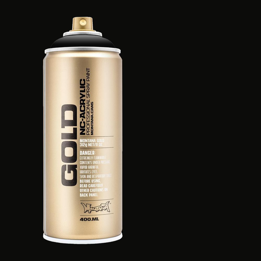 13 oz  GOLD Shock Black Spray Paint