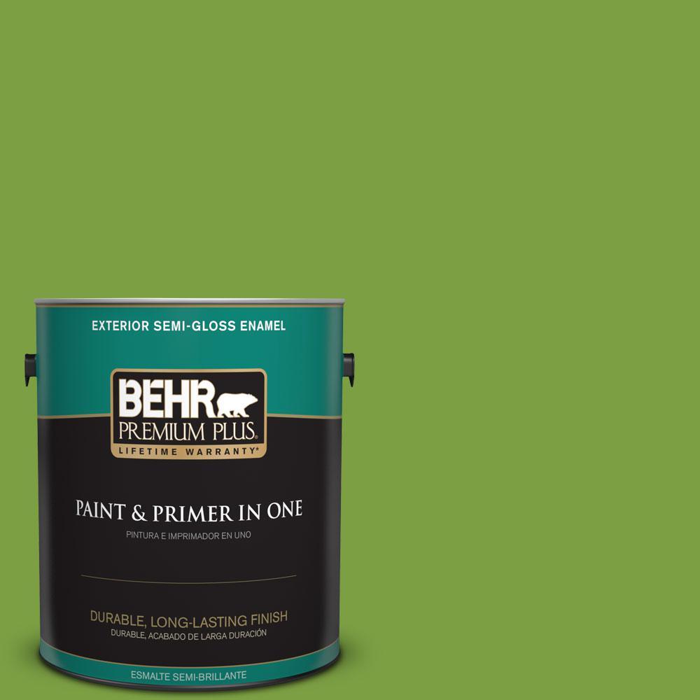 1-gal. #420B-7 Pepper Grass Semi-Gloss Enamel Exterior Paint