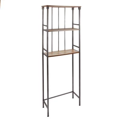 Mixed Material Bathroom Collection 3-Tier Spacesaver in Gunmetal