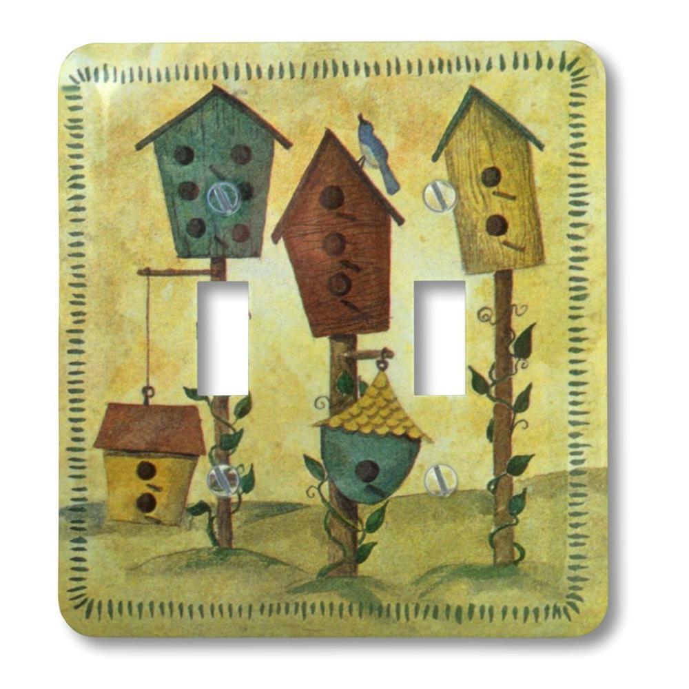 birdhouses 2 toggle wall plate