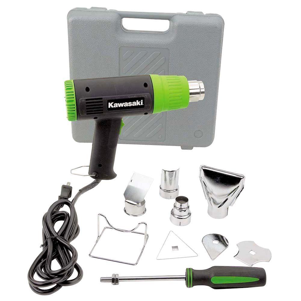Kawasaki 10-Piece 12.5-Amp Heat Gun Kit by Kawasaki