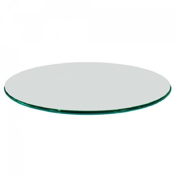 Fab Glass And Mirror 48 In Clear Round Glass Table Top 3 4 In