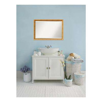 Townhouse Gold Wood 39 in. W x 27 in. H Single Traditional Bathroom Vanity Mirror