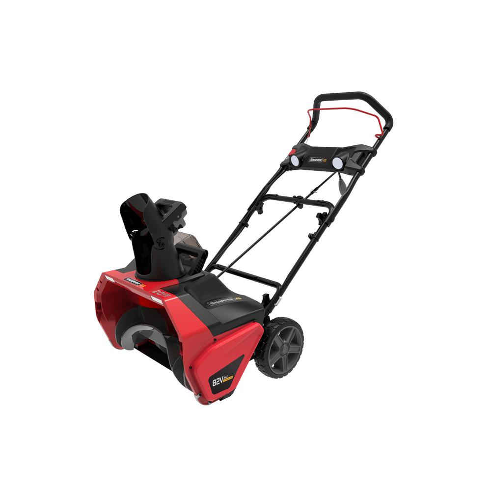 Snapper XD 20 in. 82-Volt Lithium-Ion Single-Stage Cordless Electric Snow Blower Battery and Charger Not Included