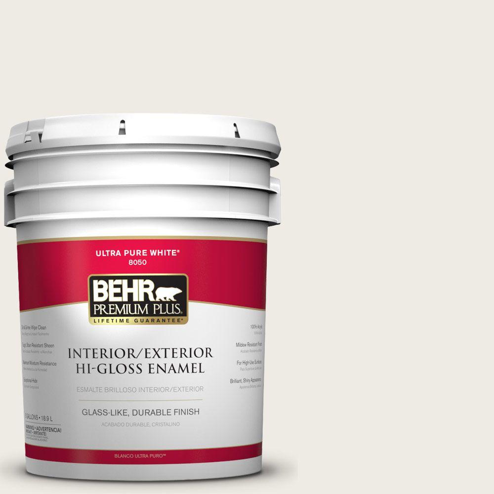 5-gal. #BWC-06 Solid Opal Hi-Gloss Enamel Interior/Exterior Paint