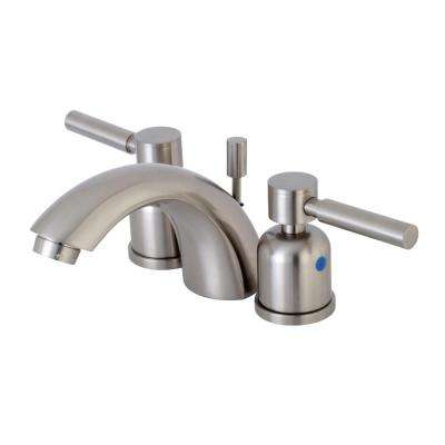 4 in. Minispread 2-Handle Mid-Arc Bathroom Faucet in Satin Nickel