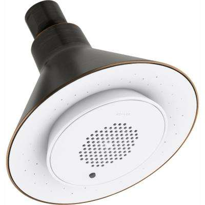 Moxie 1-Spray 5 in. Showerhead with Wireless Speaker in Oil-Rubbed Bronze