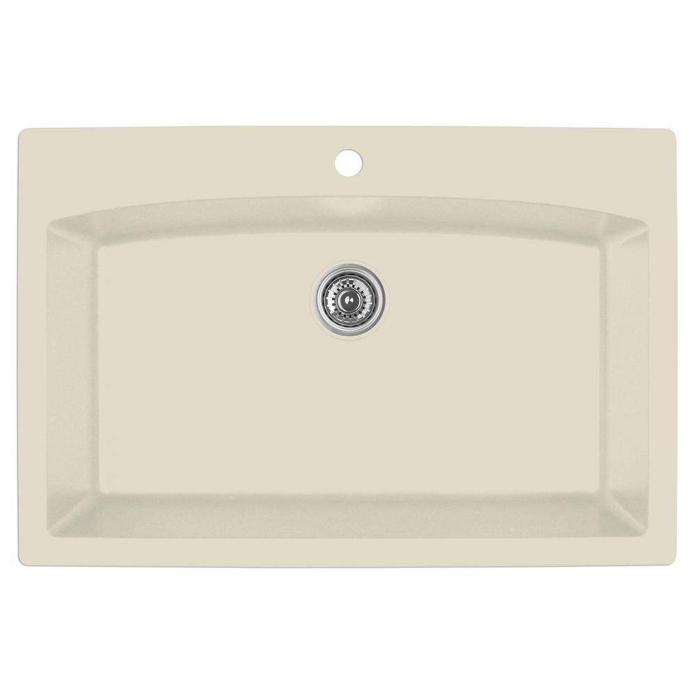 Karran Drop In Quartz Composite 33 In. 1 Hole Single Bowl Kitchen Sink
