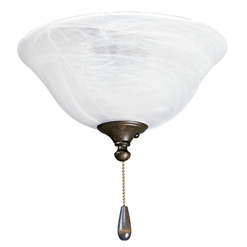 Progress Lighting AirPro 3-Light Weathered Bronze Ceiling Fan Light