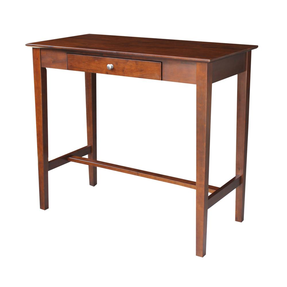 International Concepts Espresso Desk Of581 56 The Home Depot