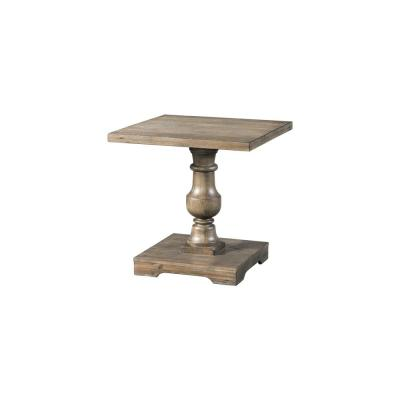 Brown Charleston-Pedestal End Table