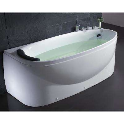 67 in. Acrylic Flatbottom Bathtub in White