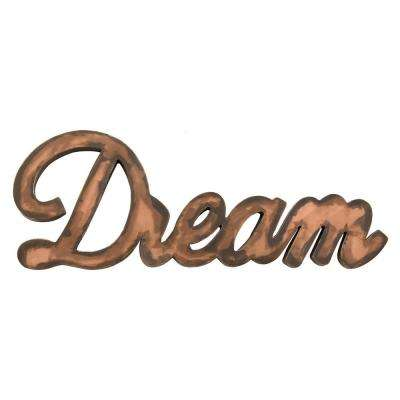 Brown Metal Dream Wall- Decor