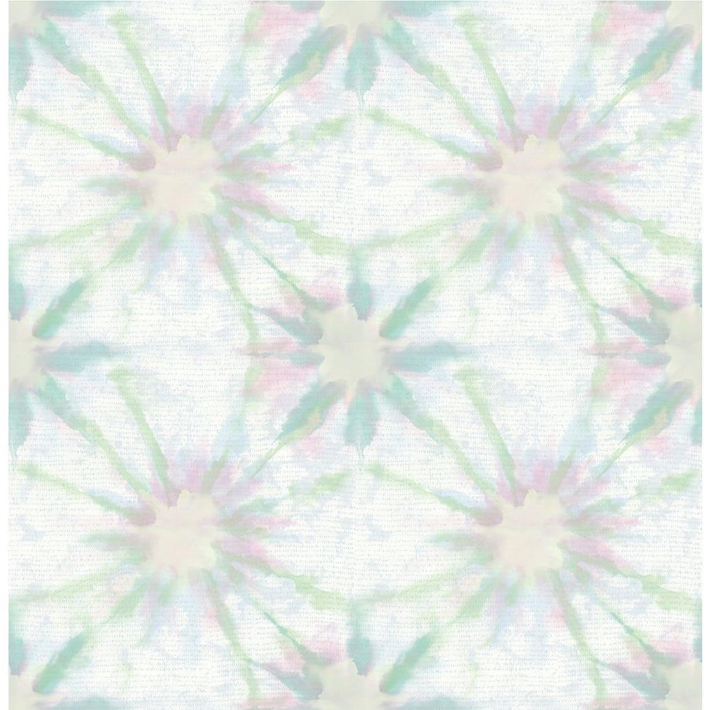 A-Street Iris Green Shibori Wallpaper 1014-001856